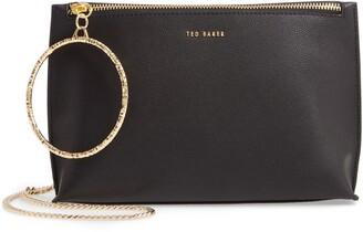 Ted Baker Ingaah Ring Handle Leather Crossbody Bag