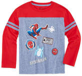 Spiderman Long Sleeve Crew Neck T-Shirt-Preschool Boys