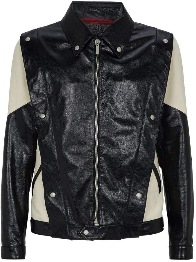 Givenchy Leather Canvas Jacket