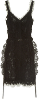 Lanvin V-neck lace dress