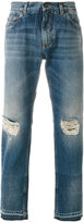 Dolce & Gabbana distressed straight-leg jeans - men - Cotton - 46