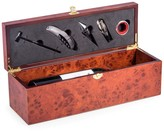 Bey-Berk Bey Berk 7-Piece Rosewood Wine Bottle Gift Set