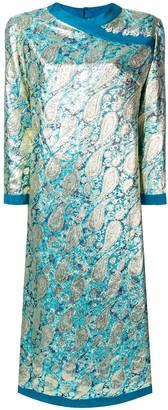 A.N.G.E.L.O. Vintage Cult 1960's Paisley Jacquard Dress