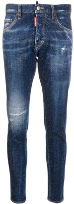 DSQUARED2 Rhinestone-Embellished Skinny Jeans