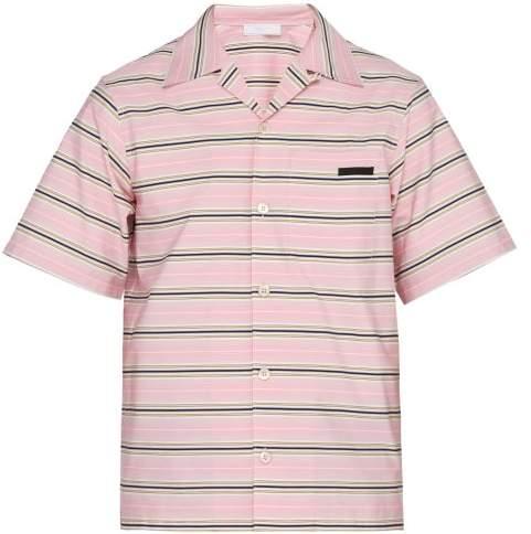 e7ade92e Striped Short Sleeved Cotton Shirt - Mens - Pink Multi