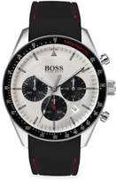 Trophy Stainless Steel Silicone Strap Chronograph Watch