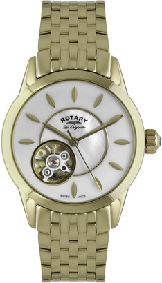 Rotary Womens Skeleton Automatic Watch with Stainless Steel Strap LB90513/41