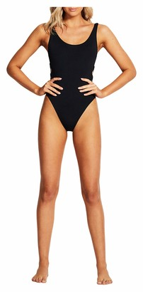 Seafolly Women's Ring Side Tank One Piece with High Cut Leg