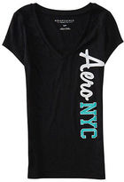Aeropostale Womens Aero Nyc V-Neck Graphic T Shirt