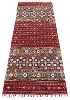 """One-of-a-Kind Southwestern Hand-Knotted Runner 2'6"""" x 6'6"""" Red/Blue/Beige Area Rug Isabelline"""