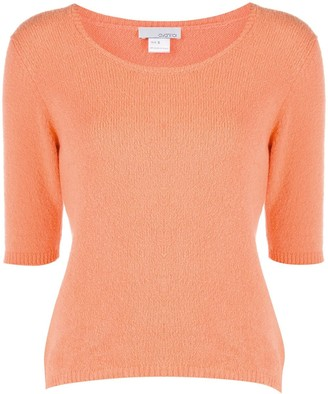 Avant Toi Knitted Short-Sleeve Pullover