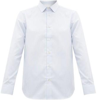 Paul Smith Artist Stripe-cuff Striped Cotton Shirt - Mens - Blue