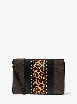 Michael Kors Jet Set Large Mixed-Media Travel Pouch