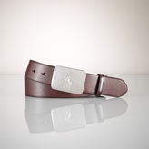 Polo Ralph Lauren Pony Plaque Leather Belt