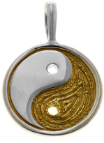 Sterling Silver Ying Yang Balance Charm with Gold Accents by Cynthia Gale