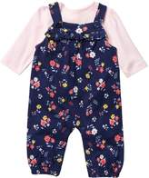 Little Me Floral Overall Set (Baby Girls)