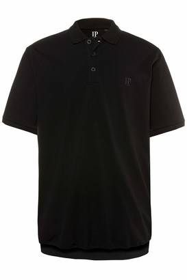 JP 1880 Men's Big & Tall Preppy Pique Polo Tee Navy XXXX-Large 712617 70-4XL