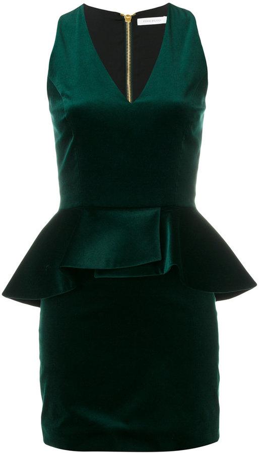 Pierre Balmain peplum v-neck dress