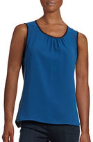 Anne Klein Sleeveless Two-Tone Blouse