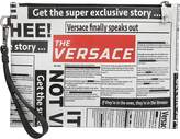 Versace Newspaper Print Clutch