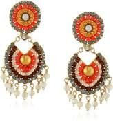 Miguel Ases Mother-of-Pearl Tangerine Drop Earrings