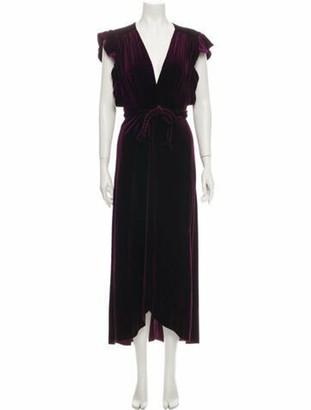MISA Plunge Neckline Long Dress w/ Tags Purple Plunge Neckline Long Dress w/ Tags