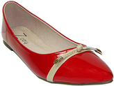 Zoey Red Knot-Accent Flat