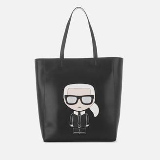 Karl Lagerfeld Paris Women's K/Ikonik Soft Shopper Bag - Black