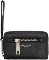 Marc Jacobs Black Gotham Zip Phone Wallet