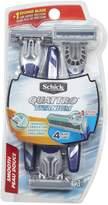 Schick Quattro Titanium Smooth Mens Disposable Razor, 3 Pack with Free Hydro 5 Disposable Razor