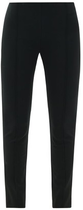 The Row Cosso Tailored Jersey Trousers - Womens - Black