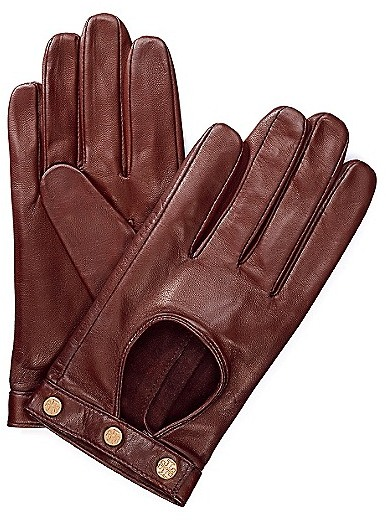 Tory Burch Logo Studded Driving Gloves