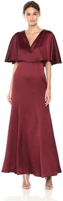 Chetta B Women's Capelet Satin Gown