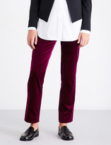 Theory Slim-fit velvet trousers