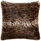 Helene Berman Brown Jaguar Faux Fur Cushion