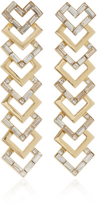 Lulu Frost Adore Gold-Plated And Crystal Earrings