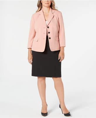 Le Suit Plus Size Triple-Button Skirt Suit