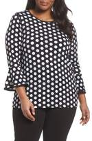 MICHAEL Michael Kors Simple Dot Flare Sleeve Top