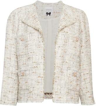 Edward Achour Open Front Tweed Jacket