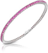Forzieri Pink Sapphire 18K Gold Tennis Bracelet