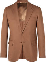 Camoshita - Tan Unstructured Woven Suit Jacket