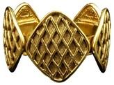 Chanel Matelasse Gold-Tone Thick Bangle Bracelet