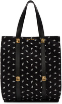 Miu Miu Black Canvas Cat Tote
