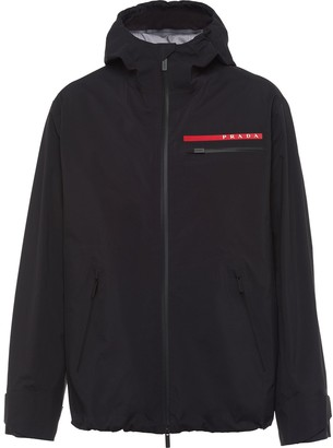 Prada LR-MX002-MK2 technical hooded jacket