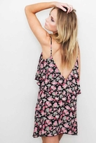 Blu Moon Summer Lovin' Short Dress in Black Rose Crepe