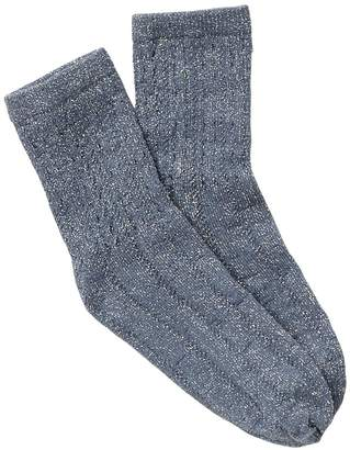 Oroblu Metallic Openwork Crew Socks