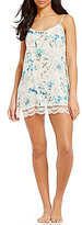 Flora Nikrooz Delilah Scalloped Lace-Trimmed Floral Chemise