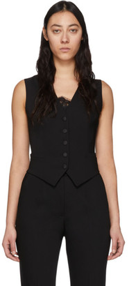 Dolce & Gabbana Black Wool Vest