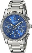 Akribos XXIV Men's AK868SSBU Round Blue Dial Three Hand Quartz Bracelet Watch