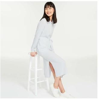 Joe Fresh Women's Side Slit Shirtdress, Light Blue (Size XS)